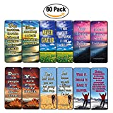 Creanoso Success Inspirational Quotes Bookmarks (60-Pack)- Never Give Up Cards Bookmarker - Positive Wisdom Motivational Sayings Gifts for Men Women Adults Teens Kids Boys Girls Entrepreneur Office