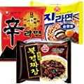 Nongshim and Ottogi Ramyun 6 Pack Special Combo 96 (2pc of Shin Ramyun , 2pc of Jin Ramen Mild, and 2pc of Chajang Noodle) Total 6 Pc