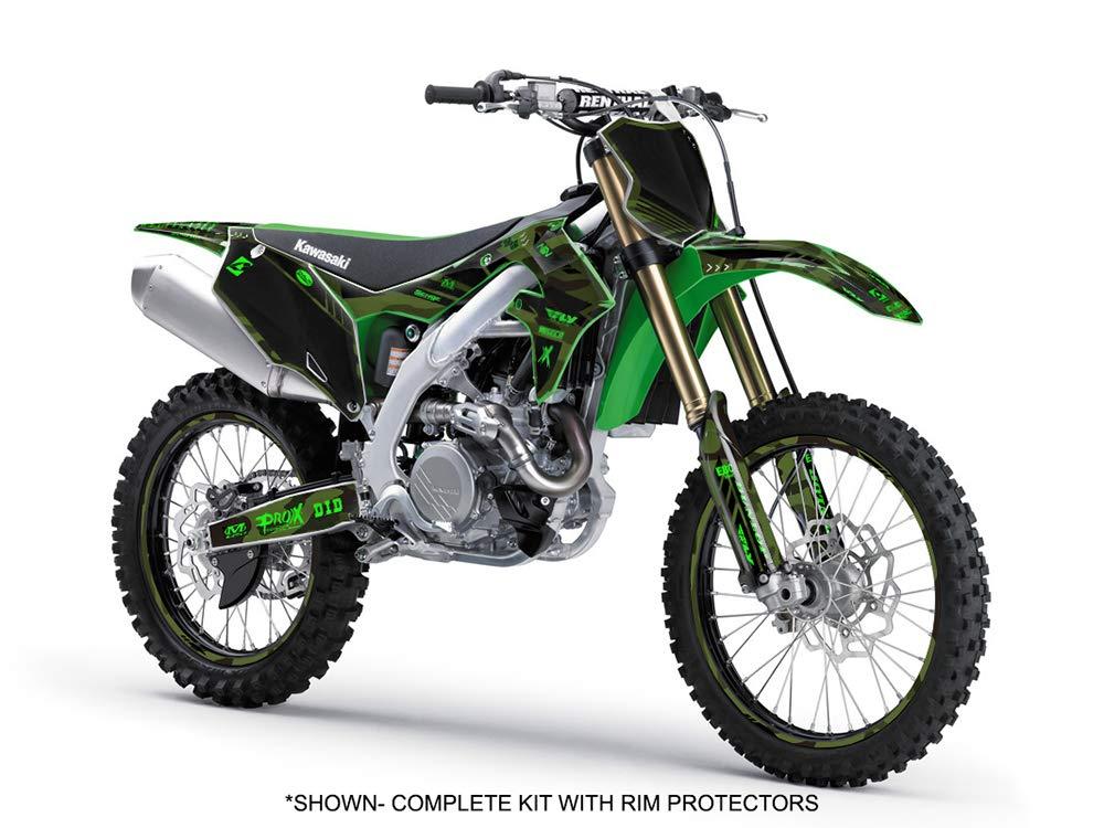 2-STROKE Apache Green Complete Complete Senge Graphics kit Compatible with Kawasaki 2003-2012 KX 125//250
