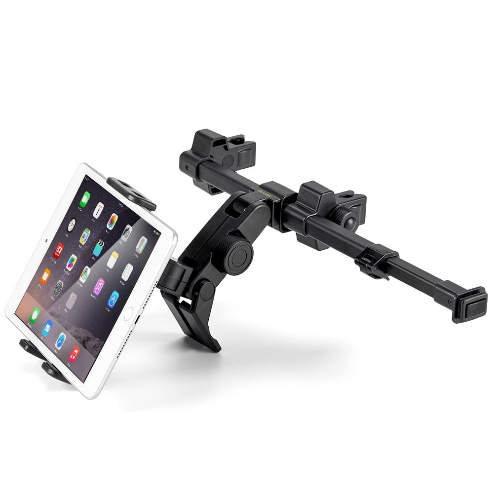 iKross Car Headrest Cradle Mount Holder with Center Extension fits 7-12-Inch Tablets For Apple iPad Pro/Air / Mini, Samsung Galaxy Tab, Microsoft Surface Pro, ASUS ZenPad 3S 10, Nintendo Switch