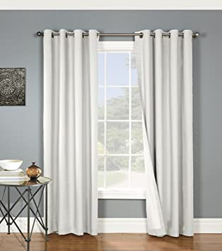 nantucket brushed twill cotton grommet thermalogic blackout insulated curtain panel x