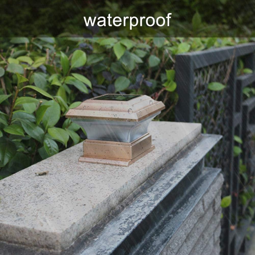 Samfox Solar Power Light Deck Solar LED Post Lights Waterproof Outdoor Garden Landscape Fence Lamp for Wooden Posts Patio Fence