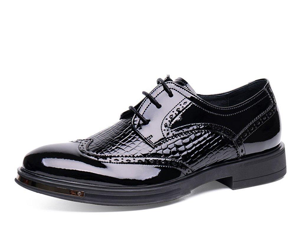Zapatos Clásicos de Piel para Hombre Zapatos de cuero para hombres Negocio Ocio Estilo británico Moda Ocio ( Color : Negro y rojo , Tamaño : EU40/UK6.5 ) EU40/UK6.5|Negro Y Rojo