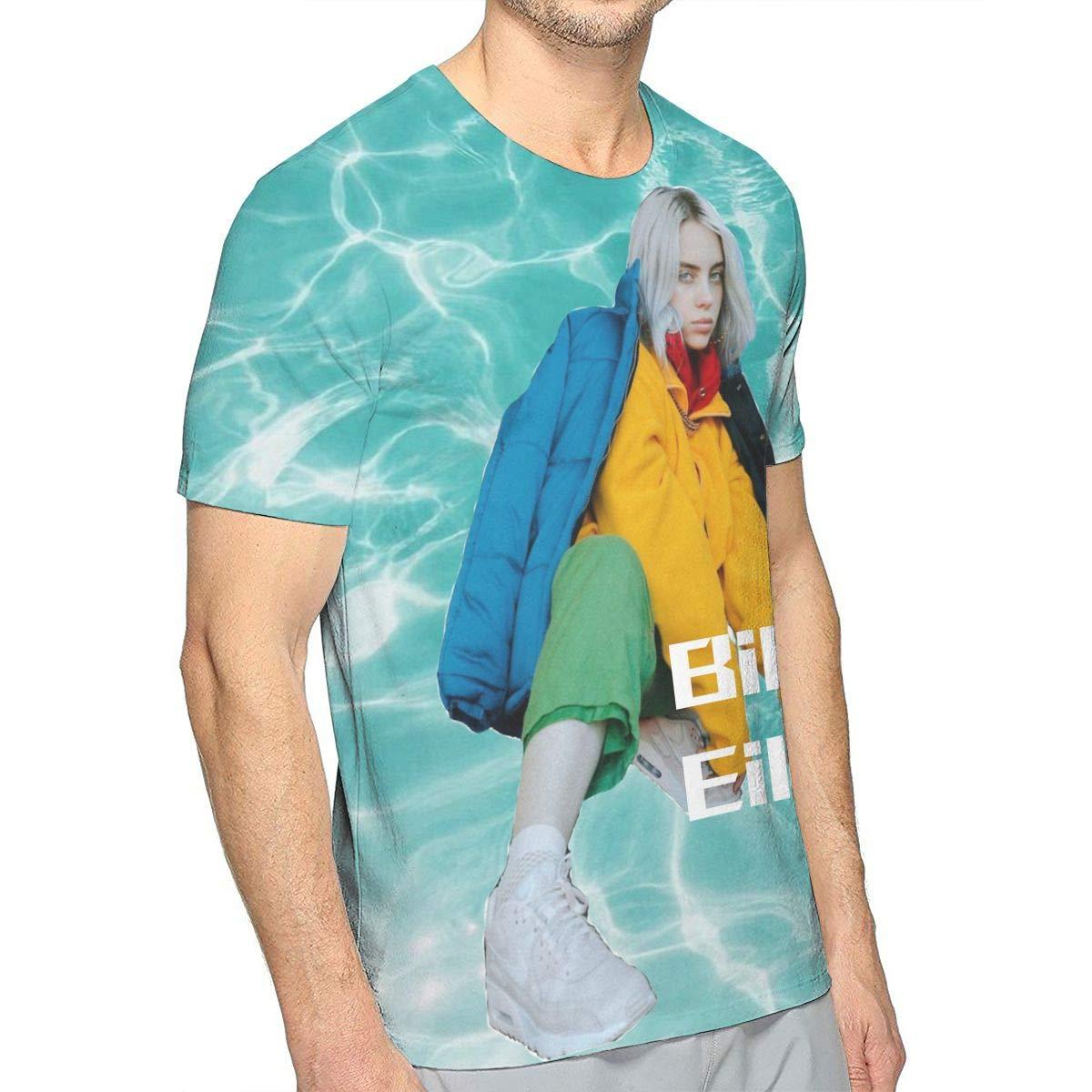 Mens 3D Short Sleeve Billie Copycat Eilish Tee T-Shirt White