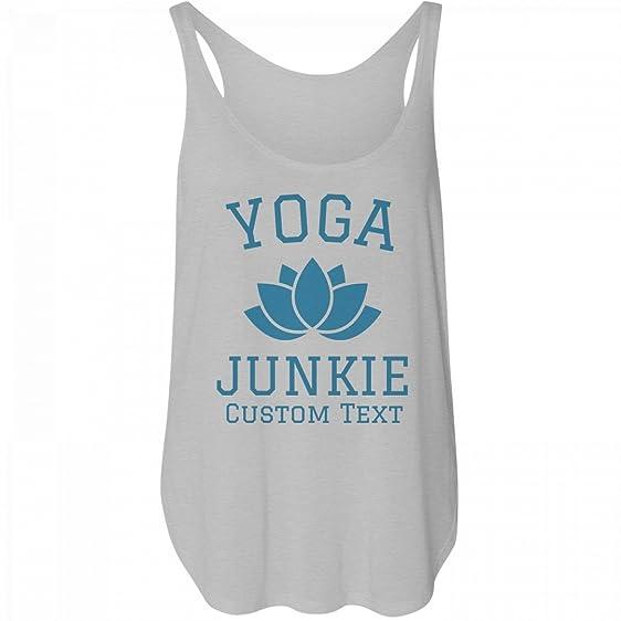 88c274eabc Amazon.com: Customized Girl Yoga Junkie Custom Tank: Bella Women's ...