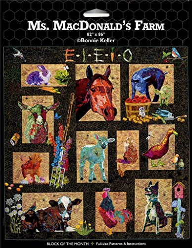 Ms MacDonald's Farm AQS Bonnie Keller BOM Animal Quilt Pattern Set by AQS