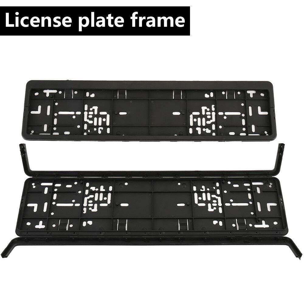 Original European License Plate Frame Bracket Holder with Secure FIT Design /& Multiple Mounting Points