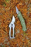 Worth Garden 2pc Prunning Set with 7'' Bypass Pruner and Pruning Knife
