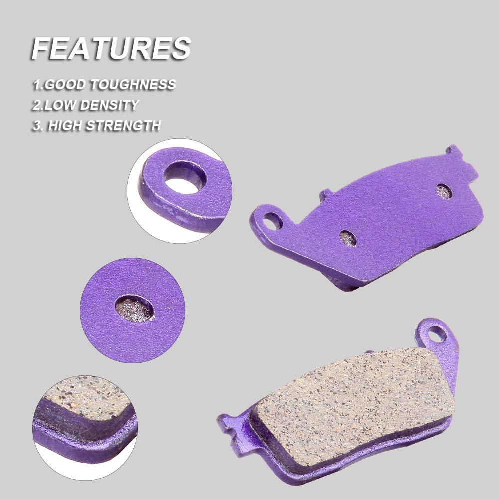 Transparent Blue Hose /& Stainless Purple Banjos Pro Braking PBK8155-TBL-PUR Front//Rear Braided Brake Line