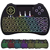 Mini Wireless Keyboard,Multifunction Colourful Backlight 2.4Ghz Remote Control with Keyboard Touchpad Mouse Combo for PC Android TV Box Raspberry Pi 3 Xbox 360 Smart TV HTPC IPTV