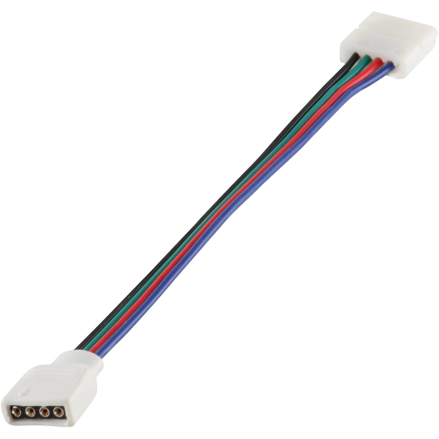 4 Wire Solderless Clip To Pin Female 6 Inch Cable For Wireclip Wiring Led Light Strips Photo Rgb Strip Home Improvement
