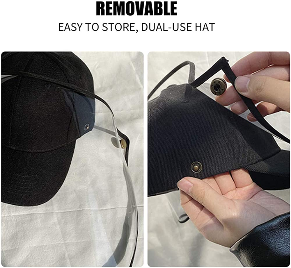 Fisherman Hat Removable Dustproof Cap Adjustable Anti UV Safety Sunhat Convenient Stylish