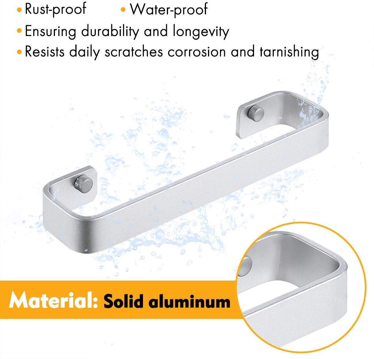 KES A4300-P Organizador de toallas de ba/ño aluminio, sin perforaciones, con pegamento