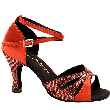 New Damen Latin Schuhe funkelnde Glitter Sandale Ballsaal Schuhe/Heel Performance/Professional Strass/funkelnde...