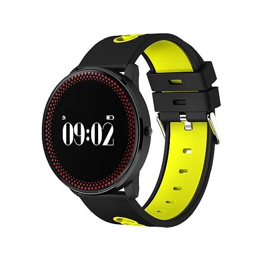 De los hombres del deporte del reloj militar impermeable al aire libre Digital LED multifunción reloj pulsómetro reloj: Amazon.es: Relojes