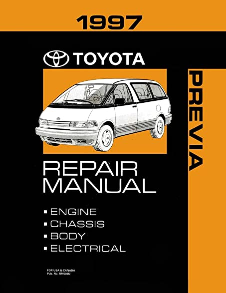 Amazon 1997 Toyota Previa Shop Service Repair Manual Book