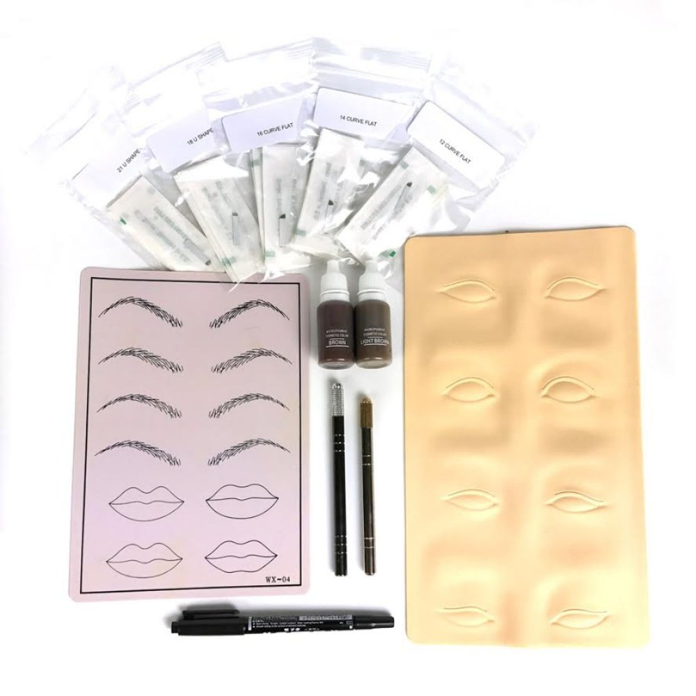 PFT Eyebrow Microblading Kit - For Permanent Makeup Eyebrow Tattoo Microblade by PF Tattoo