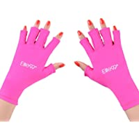 Elite99 Nails UV Shield Glove Anti UV Glove for Gel Manicures with UV/LED Lamps - Rose Red