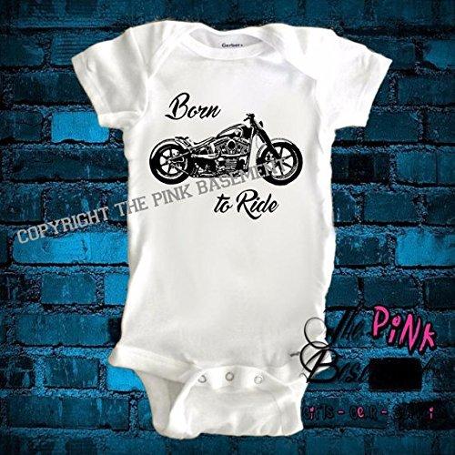 HANDMADE Born to ride hog Bike Biker Motorcycle Babies onesie Baby Boys Girls Unisex Newborn Infant Onesies Shower Gift Clothing Gifts Personalized