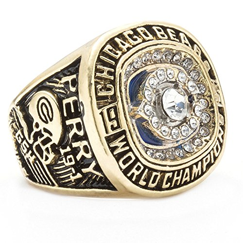 WIBBLY Mens The Year 1985 of Diamond Chicago Bears Championship Rings,Size 13