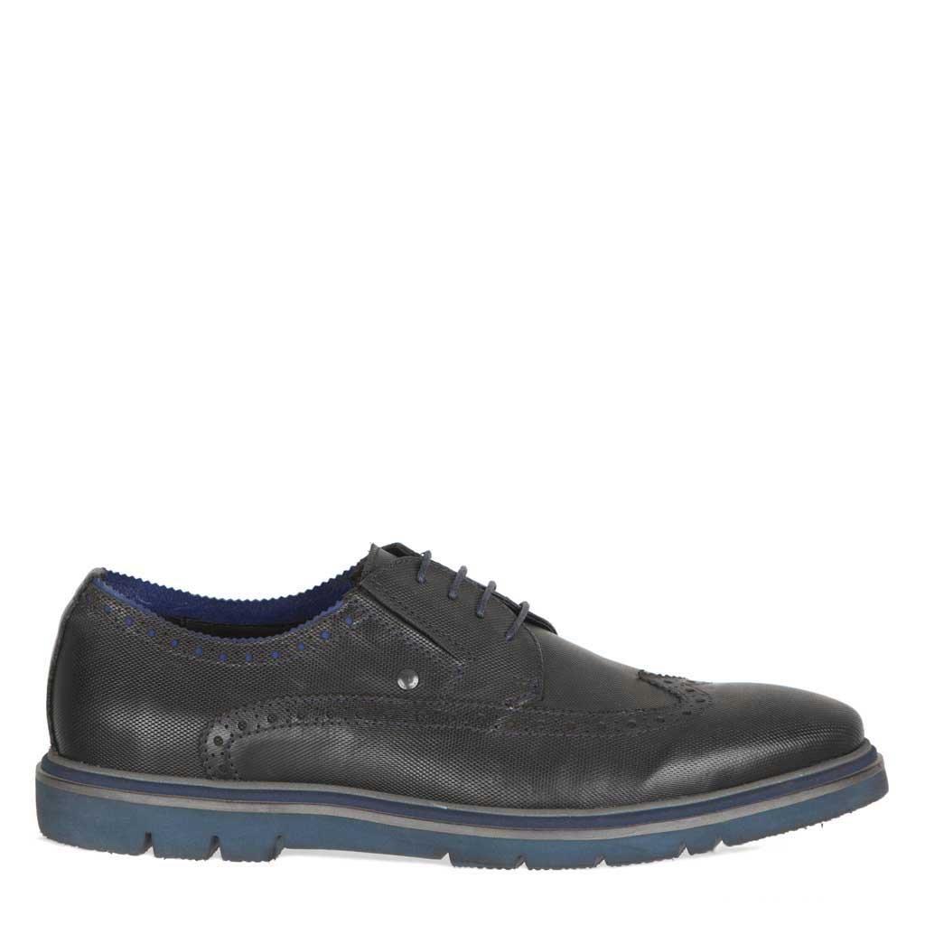 TJ Collection , Herren Herren Herren Schnürhalbschuhe Schwarz, Blau 0f7850
