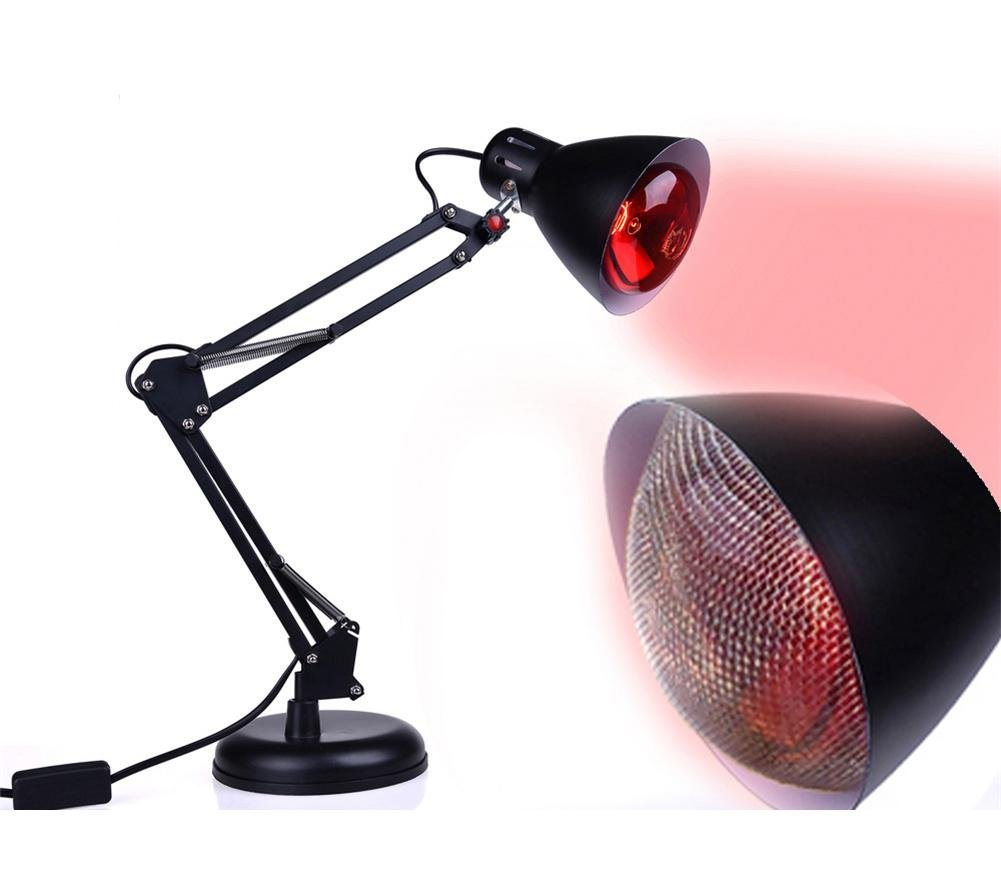100W Weit Infrarot Hitze Lampe DeskTop rot Therapie Licht Zeit Rahmen Einstellbar Temperatur Schmerzen Linderung Mit Birne wexe.com