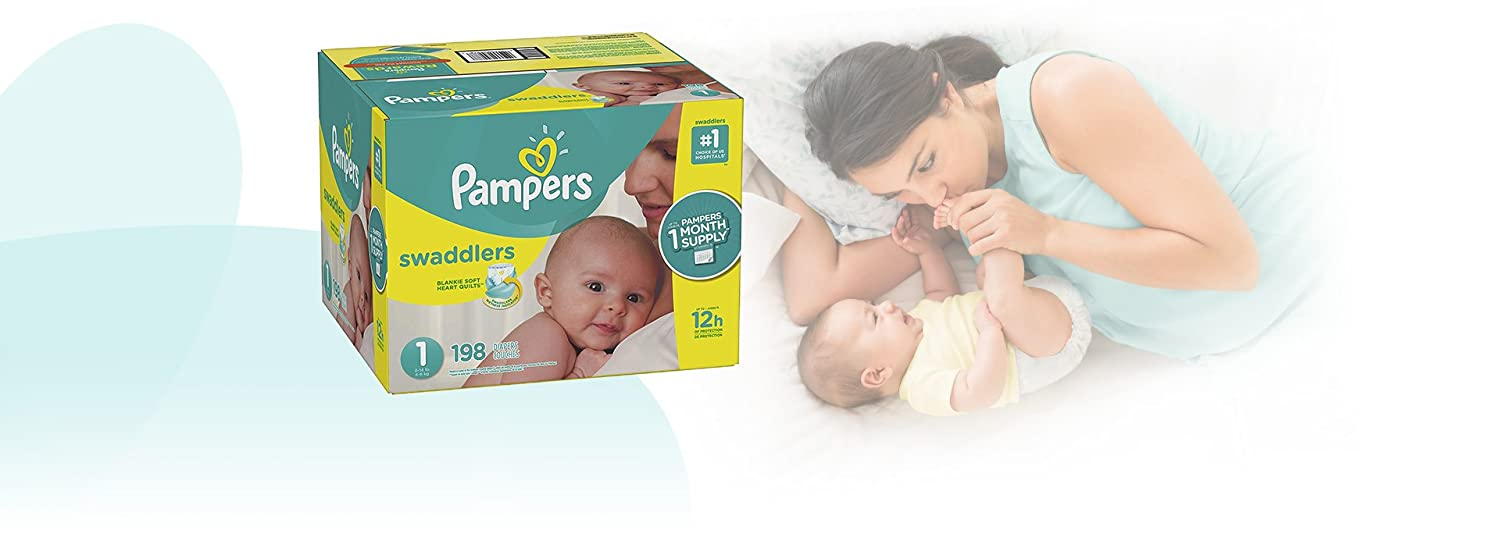 Diapers Size 4 ONE MONTH SUPPLY 150 Count Pampers Swaddlers Disposable Baby Diapers