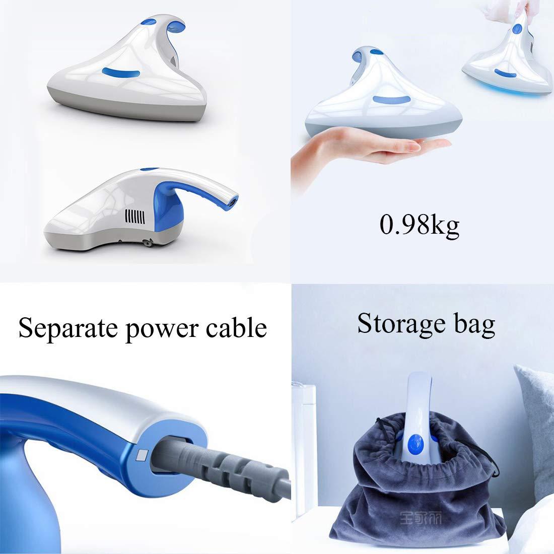 LSHOME Aspiradora de Colchones Pequeños, Aspiradora UV Doméstico,Aspiradora con Cable de Mano Capacidad de 0.5L, 400W, Adecuada para Uso en alfombras, ...