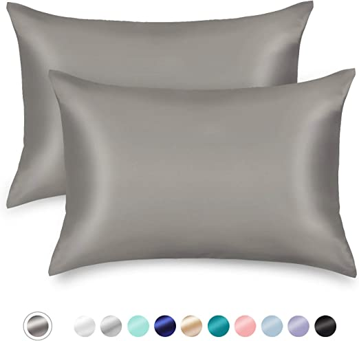 Silk Satin Standard Pillow Case Soft Home Cushion Cover Bedding Pillowcase US