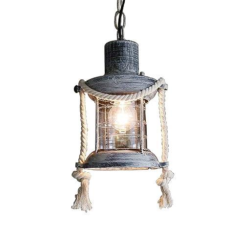 Retro cáñamo cuerda lámpara colgante vintage industriales ...