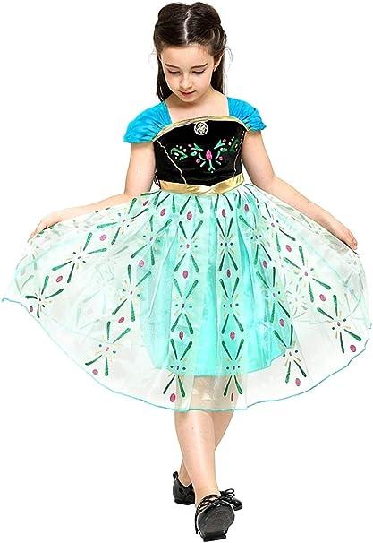Disfraz de Anna frozen - niña - color verde - halloween - carnaval ...
