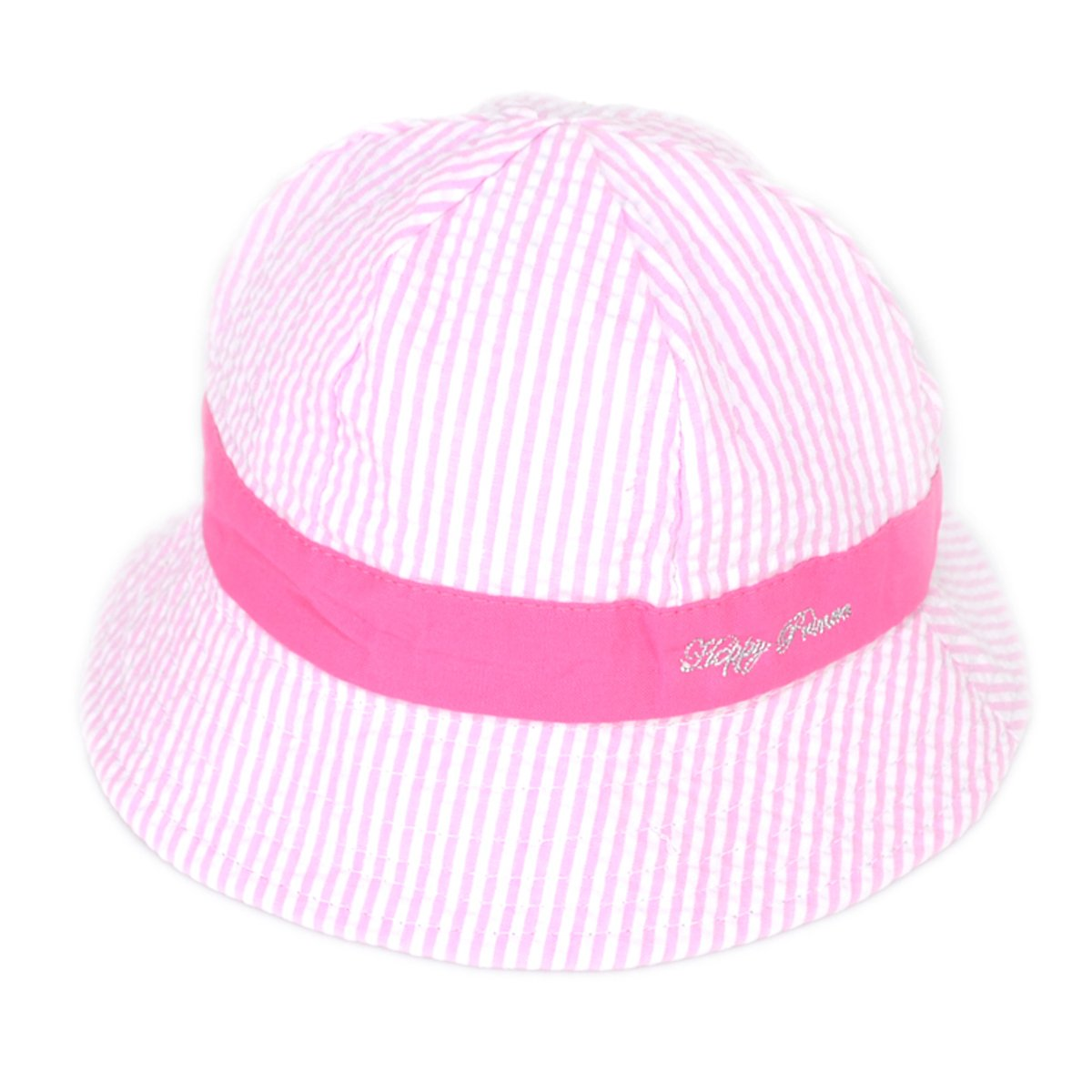 010182cc Millya Infant Baby Toddler Unisex Solid Brim Stripe Sun Protection Hat 100%  Cotton (Pink-brim): Amazon.co.uk: Baby