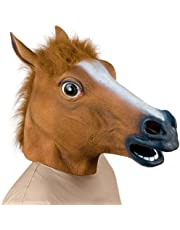 Supmaker Deluxe Novelty Halloween Costume Party Latex Animal Head Mask Horse head