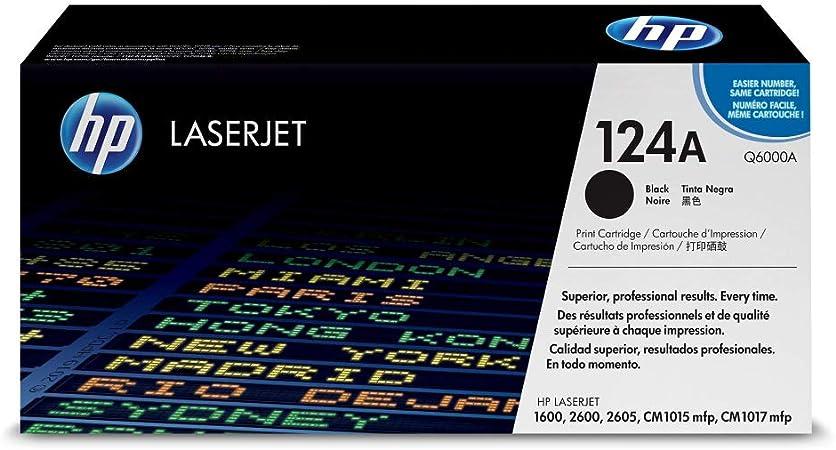 Hp 124a Q6000a Schwarz Original Toner Für Hp Color Laserjet 2600 2605 1600 Cm1016 Cm1017 Bürobedarf Schreibwaren