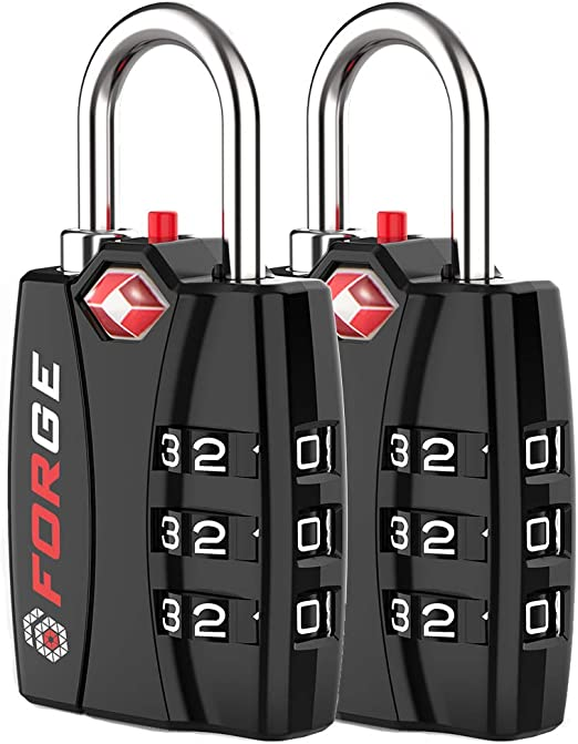 TSA Approved Travel Locks 8 Pack Alloy Body With Red Open Alert Indicator