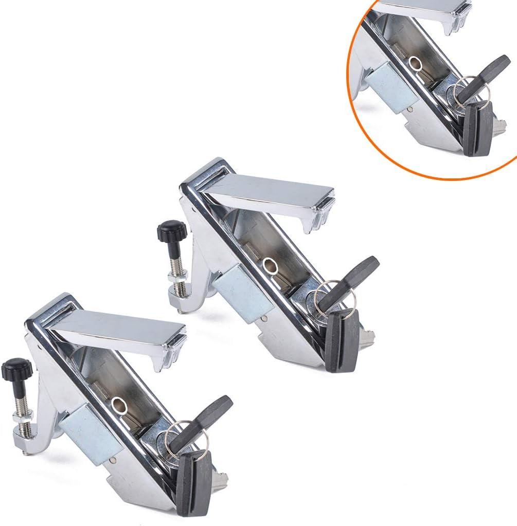 TOOGOO 2 Pcs Chrome Alliage de Zinc Compression Porte Serrure Bo?Te une Outils Cabinet Verrou Verrouillage Remorque Tack Box Ext/éRieur Accessoire Kit