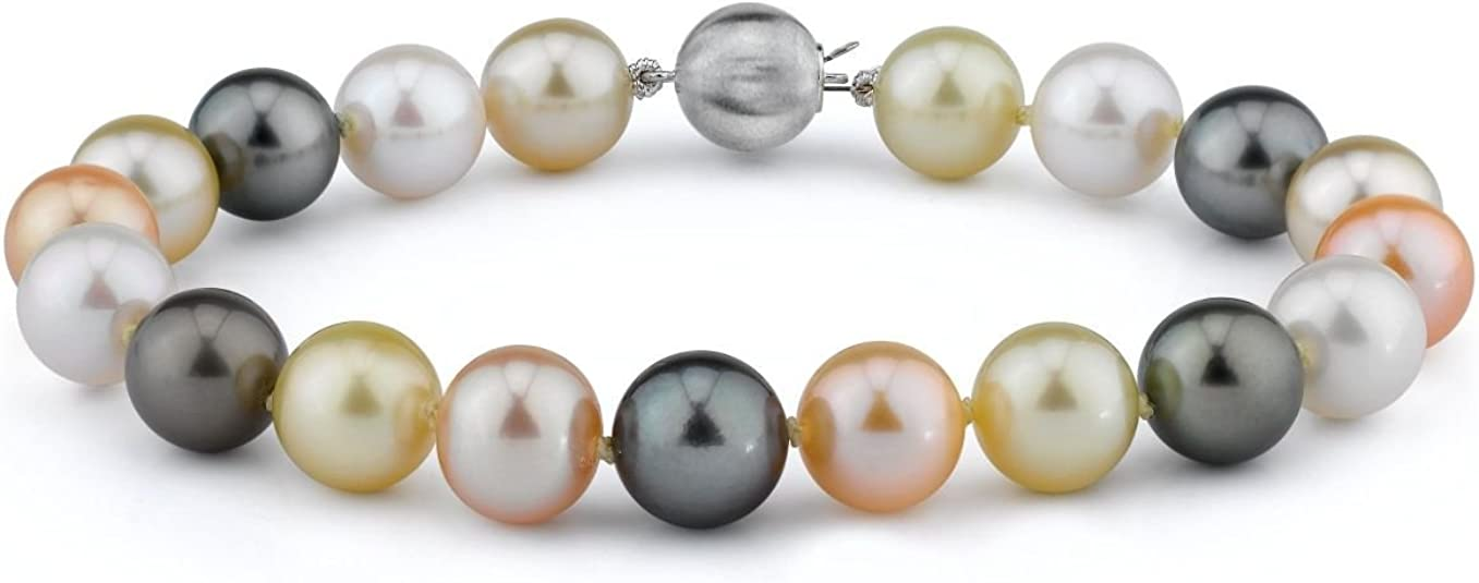 Q Gold Jewelry Bracelets Pearls 14k 6-7mm White Round Freshwater Cultured Pearl Bracelet