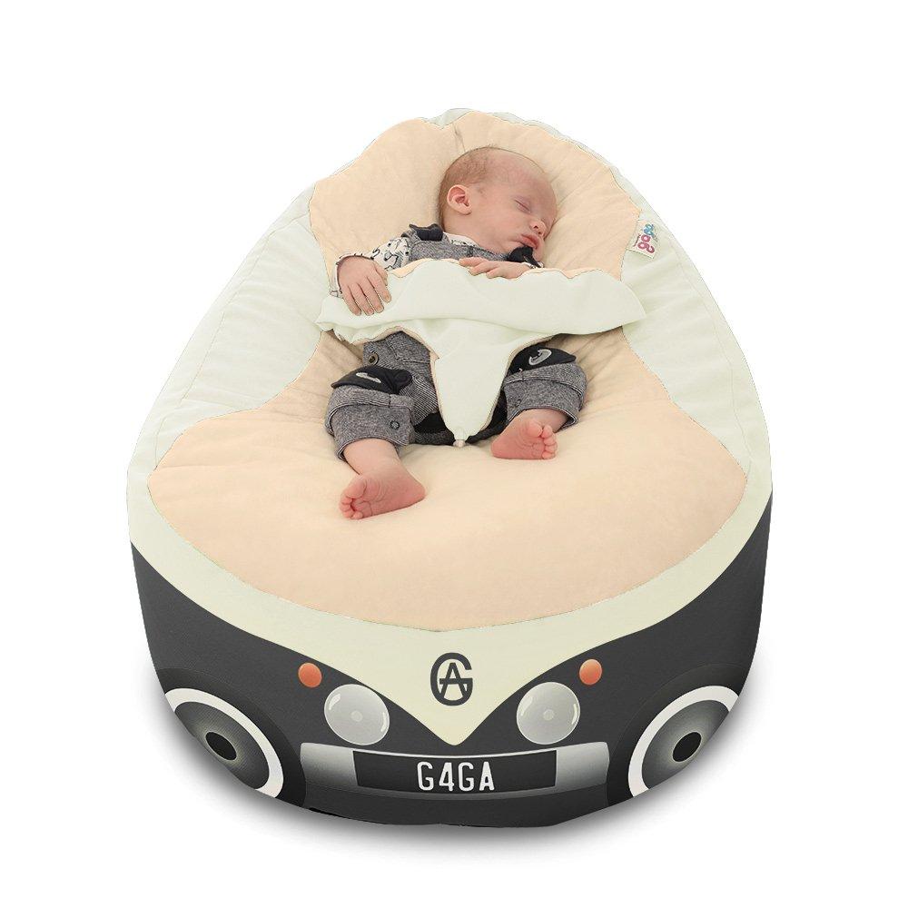 Iconic Campervan Gaga+ - Puf de bebé para niños, color gris ...