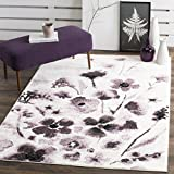 Cheap Safavieh Adirondack Collection ADR127L Ivory and Purple Vintage Floral Area Rug (9′ x 12′)