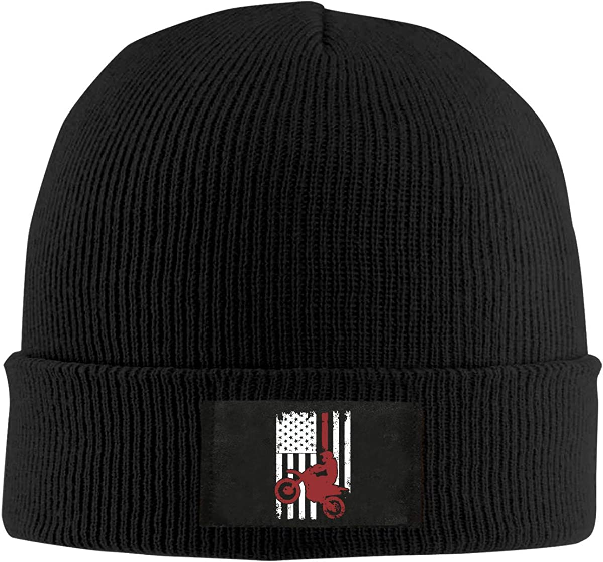 100/% Acrylic Daily Beanies Cap BF5Y6z/&MA Mens and Womens USA Flag Dirtbike Motocross Knit Cap