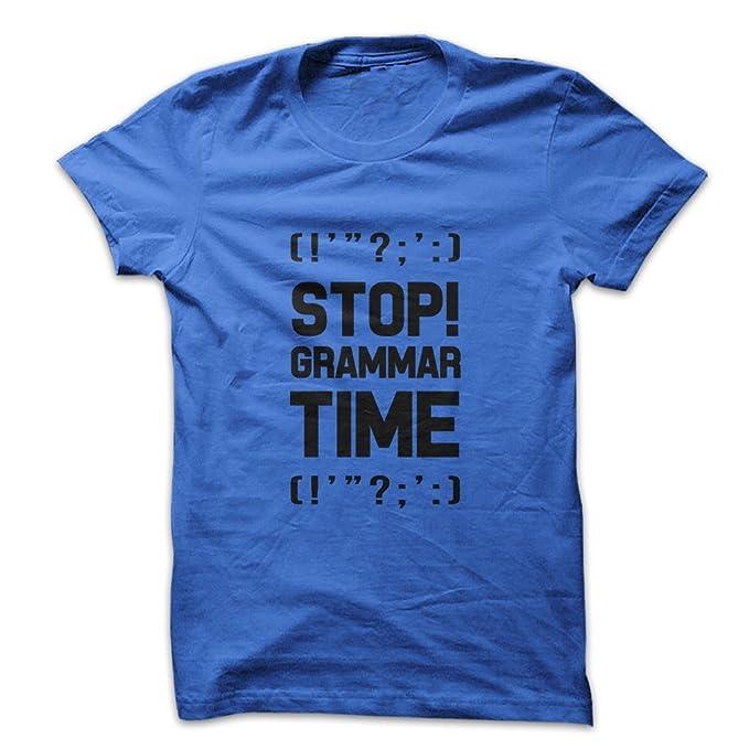 Amazon.com: Mad más de camisas deje de gramática tiempo para ...