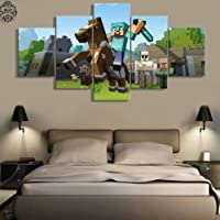 sasdasld 5 Pieces Canvas Painting Game Poster Minecraft Wall Art Home Decoration Pictures Canvas Printed Wall Decor Painting Artwork-20CMx35/45/55CM