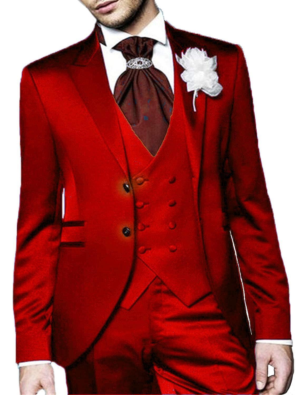 DGMJDFKDRFU Mens 3 Piece Wedding Suits Sale Slim Fit Prom Suit Jacket XZ022