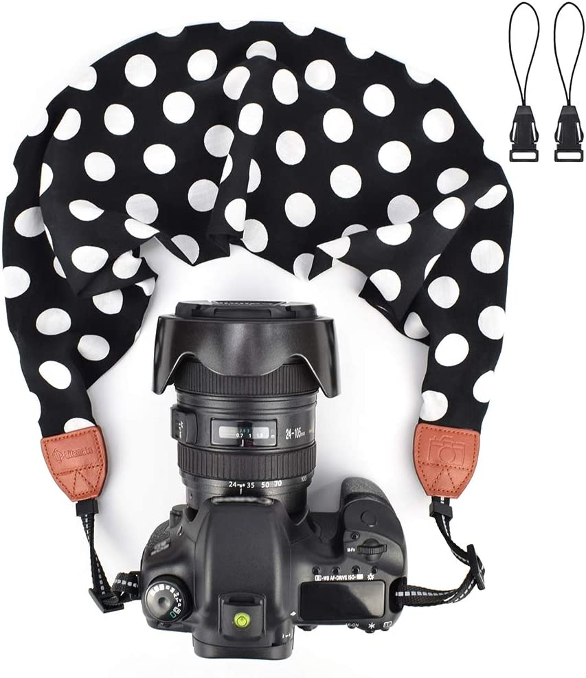 LIFEMATE Scarf Camera Strap,DSLR Camera Strap Universal Neck Strap,Fabric of Bohemia Floral Scarf Camera Strap Style 67