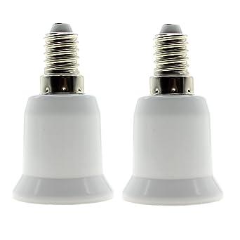 Adapter von E27 auf E14 Sockelverkleinerung Adapter von E27 auf E14