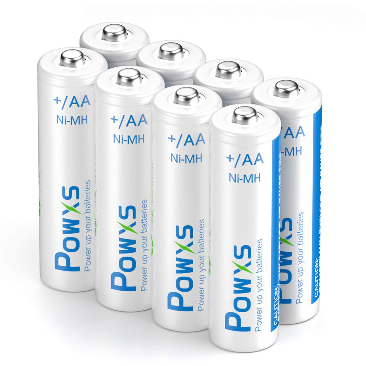 POWXS AA Rechargeable Batteries, 1.2V 2000mAh Ni-MH Pre-Charged Double A Battery for Xbox Controllers, Toys, Remote Controls and More, 8 Counts
