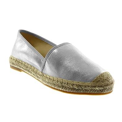 ab53dd083 Angkorly - Women's Fashion Shoes Espadrilles - Slip-on - Grained - Cord  Block Heel