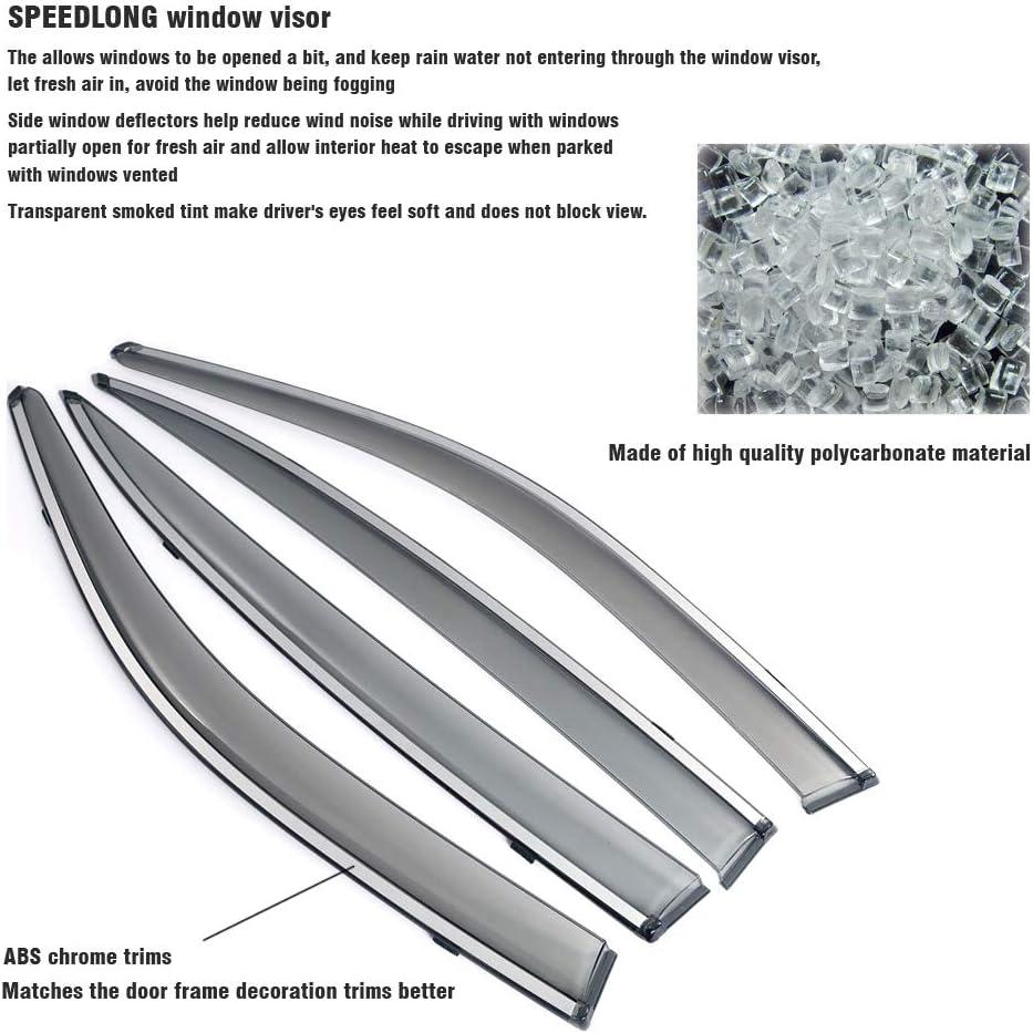 SPEEDLONG 4Pcs Car Window Visor Vent Shade Deflector Sun//Rain Guard for Jeep Cherokee 2014 2015 2016 2017 2018 Jeep Cherokee 2014-2018