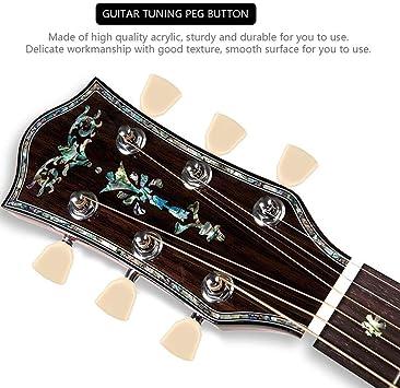 Dilwe Botón de Clavija de Afinación de Guitarra, 6 Pcs/Set Botones ...