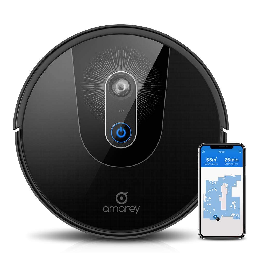 Robot Vacuum, Smart Navigating Robot Vacuum Cleaner, Wi-Fi Connectivity, APP Controls,Compatible with Alexa, Self-Charging, Boundary Strip Included, Best for Pet Hair, Hard Floors to Carpet